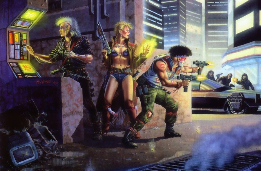 Illustration classic de shadowrun
