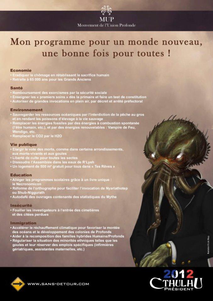 Vote Cthulhu for president of la france